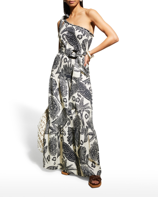 Galapago One-Shoulder Maxi Dress