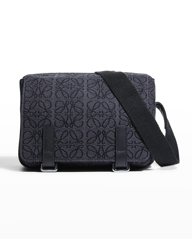 Men's Anagram Jacquard Messenger Bag