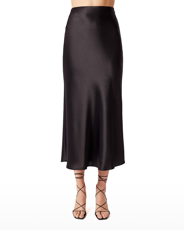 Valetta Satin Midi Skirt
