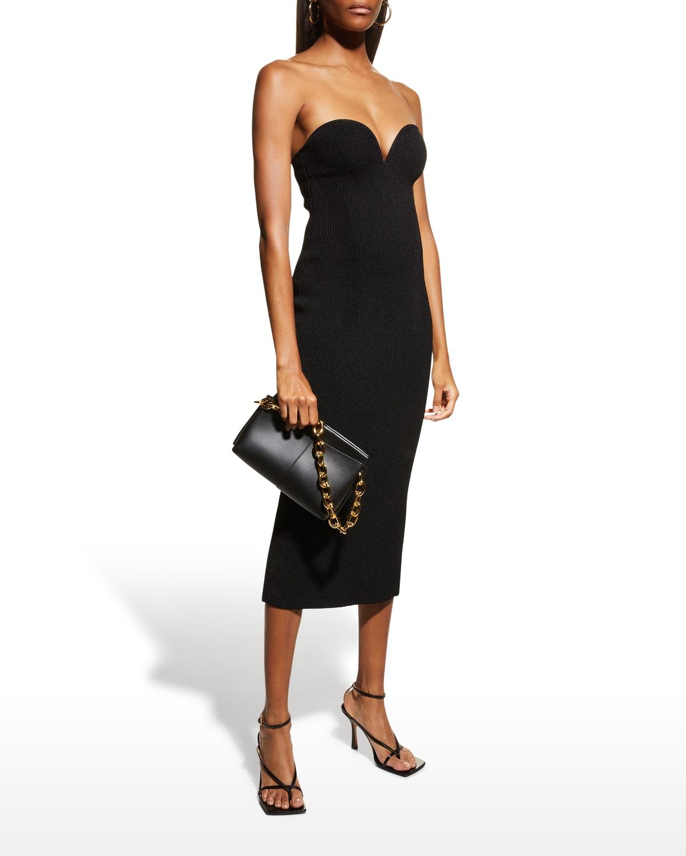 Thalia Strapless Bustier Midi Dress