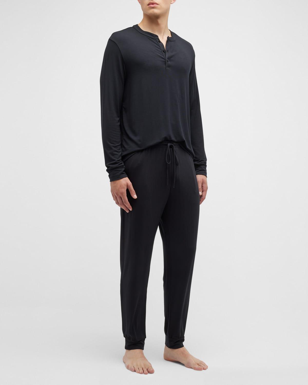 Men's Henry Long-Sleeve Pajama Set