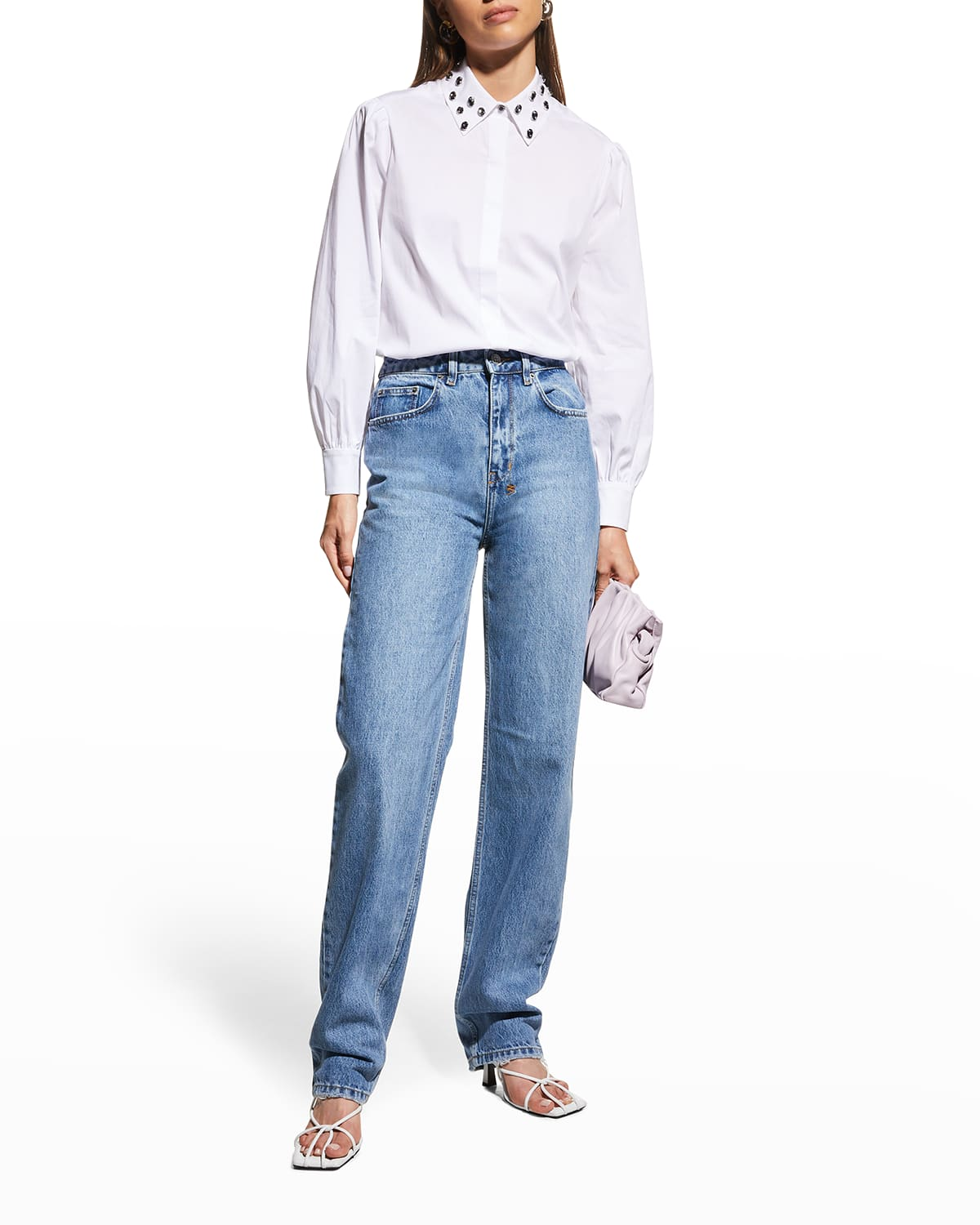 Eli Embellished Button-Down Top