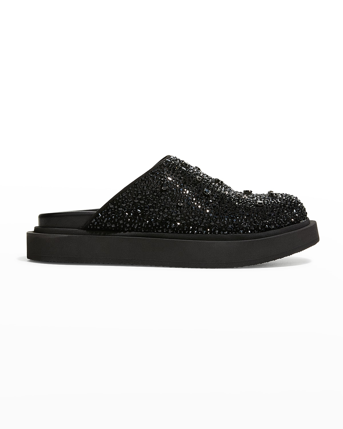 Men's Jeweled Leather Slide Mules
