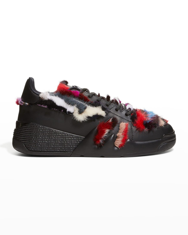 Men's Talon Multicolor Faux-Fur Low-Top Sneakers