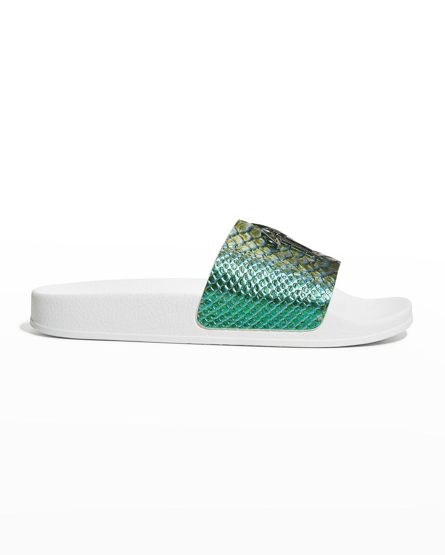 Men's Shenzen Metallic Scales Pool Slide Sandals