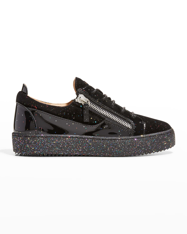 Men's Bertens Glitter Patent Low-Top Sneakers