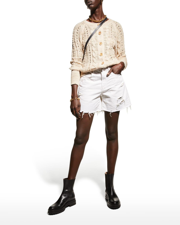 Le Brigette Raw Cuffed Shorts
