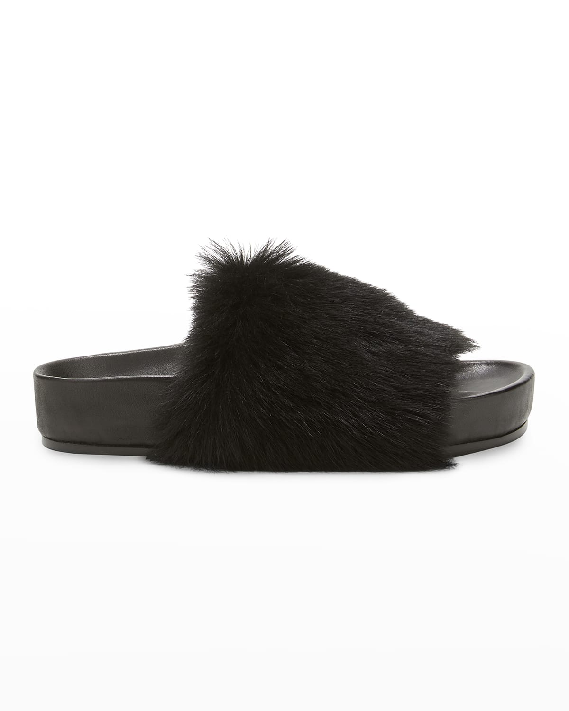 Shearling Cozy Slide Sandals