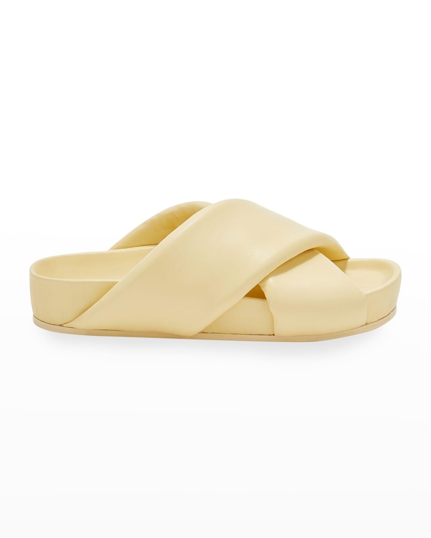 Puffy Napa Crisscross Slide Sandals