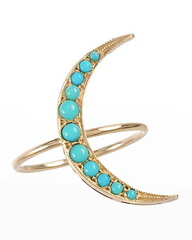 Medium Turquoise Luna Ring