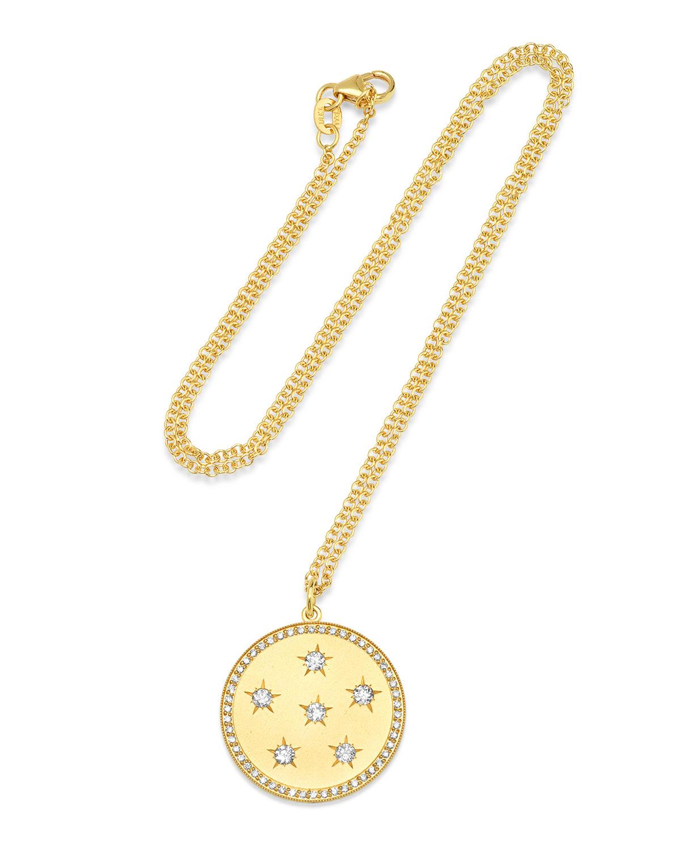 Large Diamond Full Moon Phase Necklace