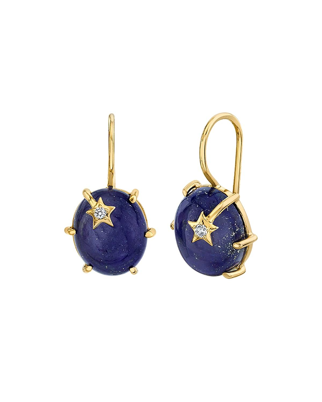 18k Rose Gold Mini Lapis Galaxy Earrings