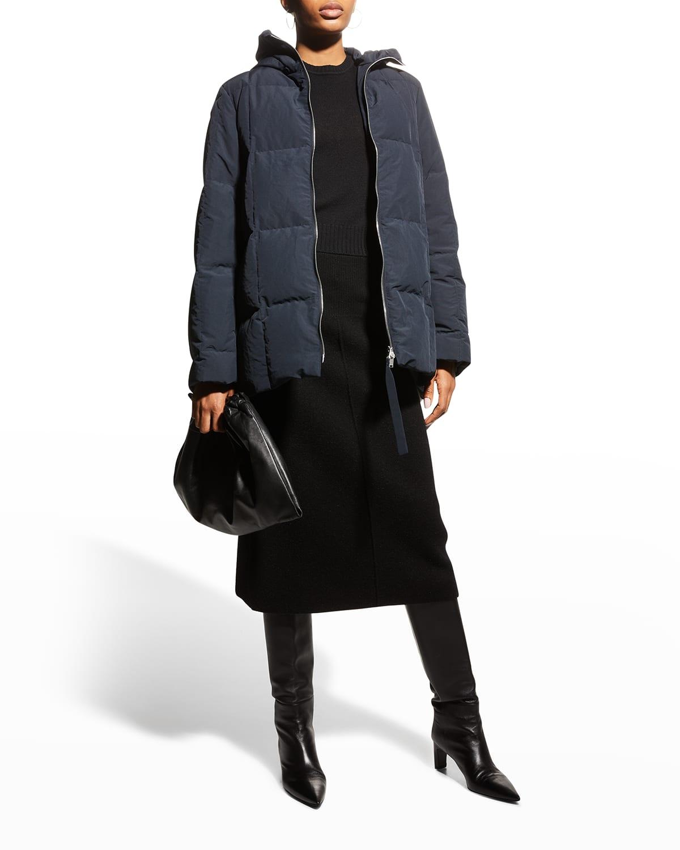 Water-Resistant Hooded Short Jacket