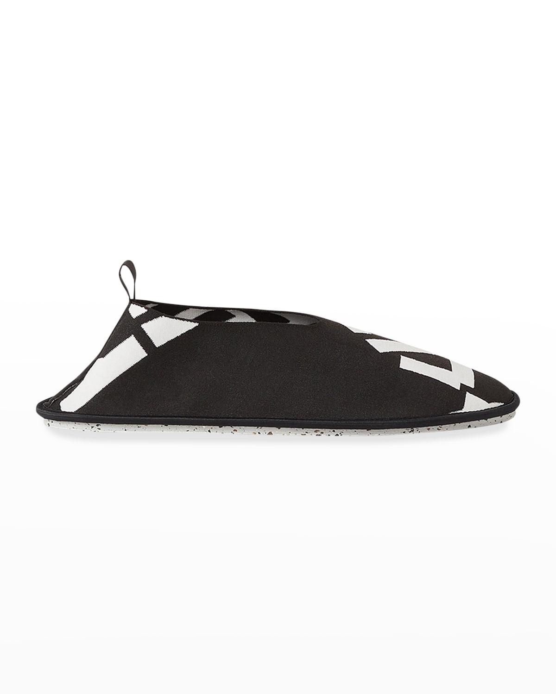 Men's Logo Stretch-Knit Slip-On Loafers