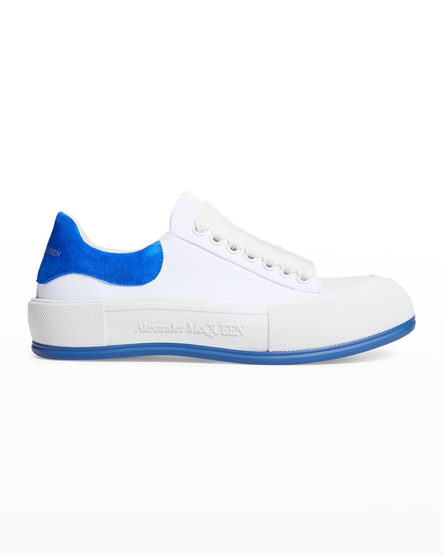 Men's Tonal Canvas Low-Top Sneakers