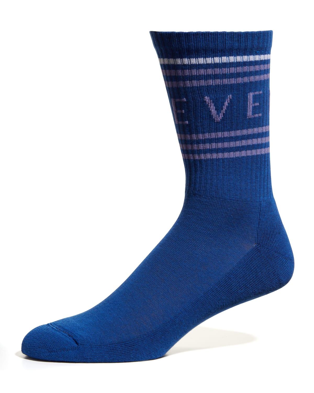 Men's Mid-Length Logo Socks