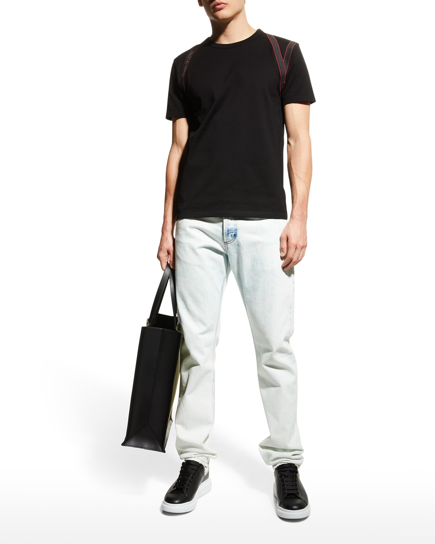 Men's Bleached Straight-Leg Jeans