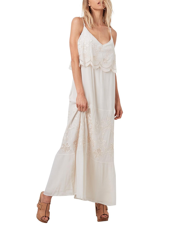 Wild Shore Scallop Maxi Dress