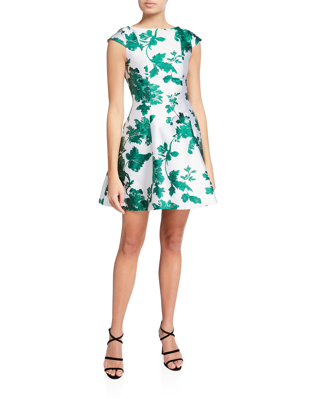 Clementine Jacquard Mini Dress