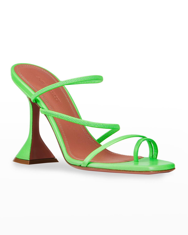 Naima Strappy Pedestal Slide High-Heel Sandals