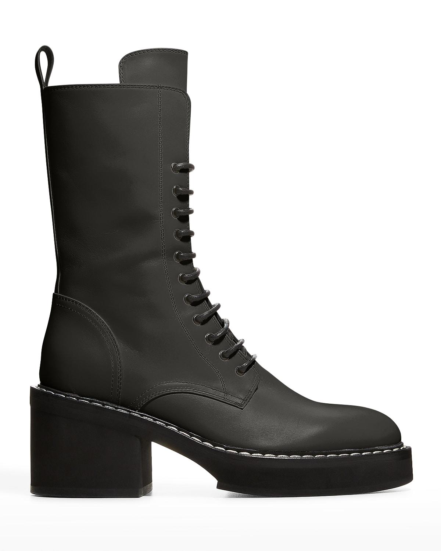 Cody Tall Calfskin Combat Boots