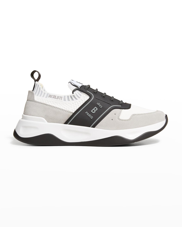 Men's Knit Trainer Sneakers