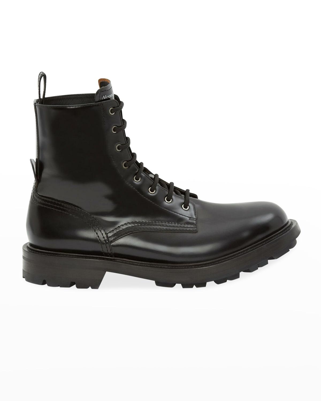 Men's Calf Leather Combat Boots