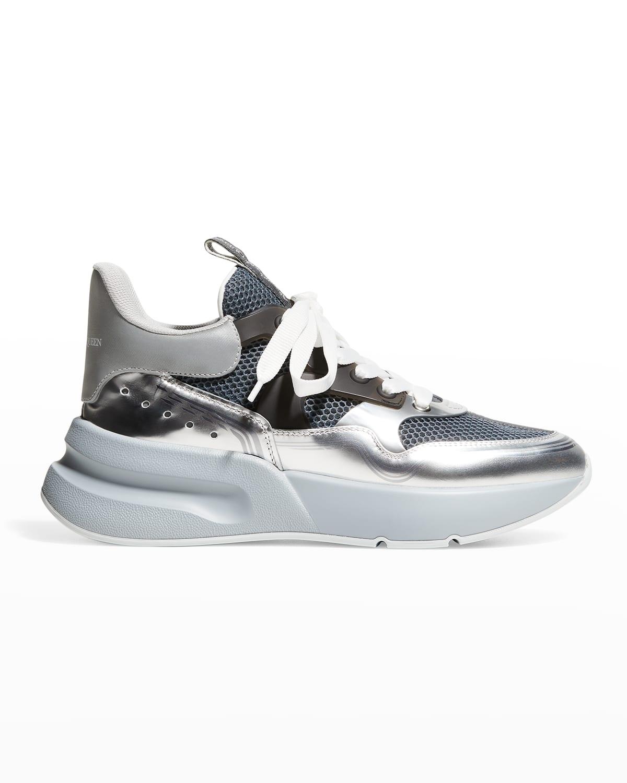 Men's Metallic Mesh Chunky Runner Sneakers