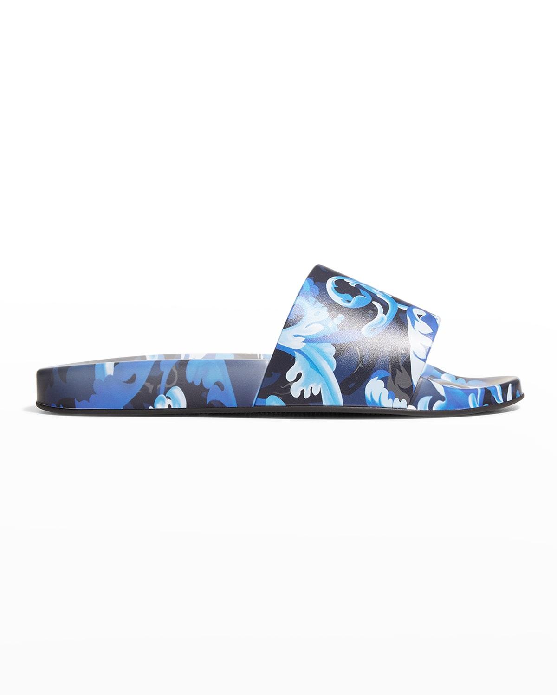 Men's Printed Pool Slide Sandals