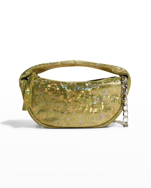Baby Cush Hologram Leather Shoulder Bag
