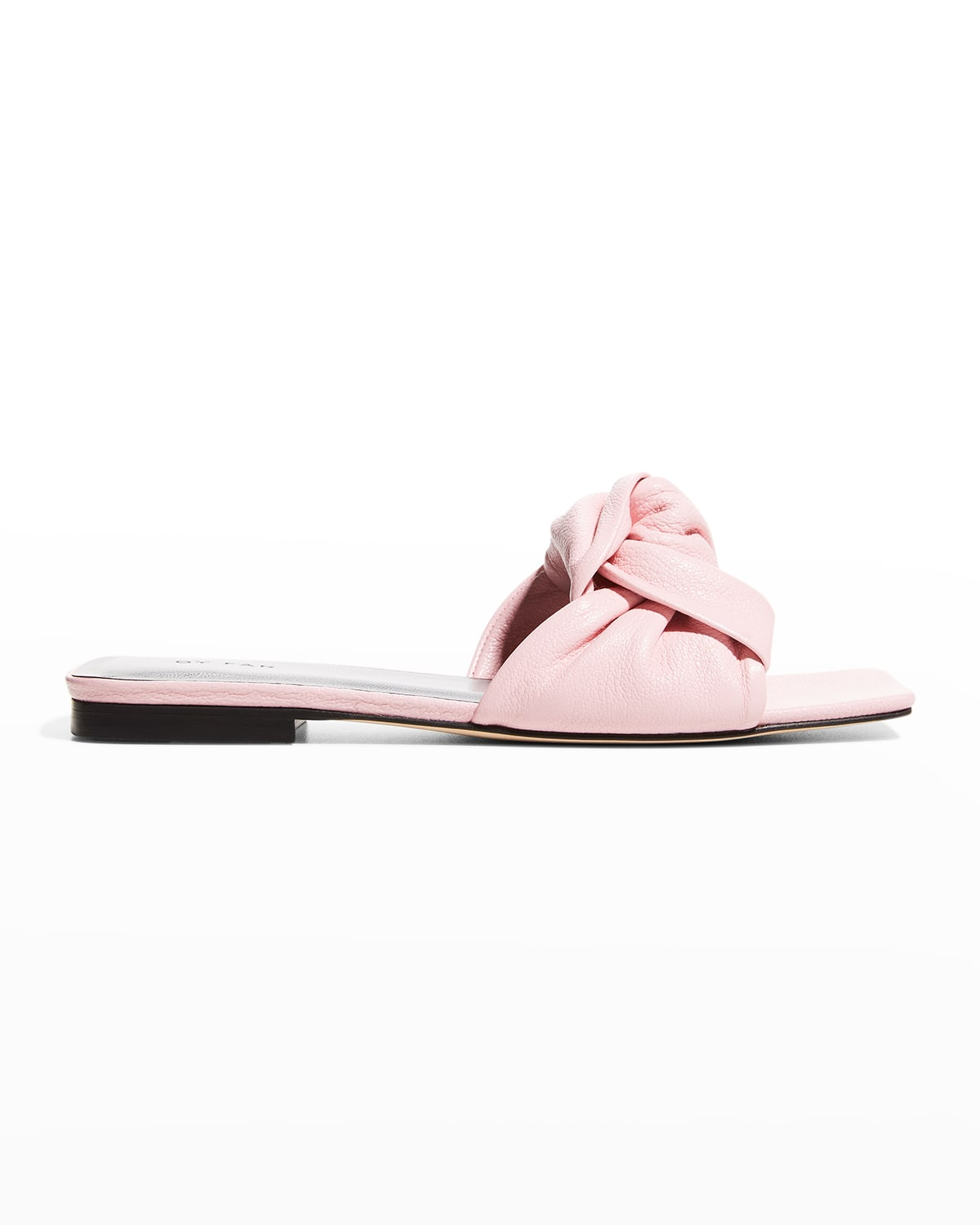Lima Knotted Leather Slide Sandals