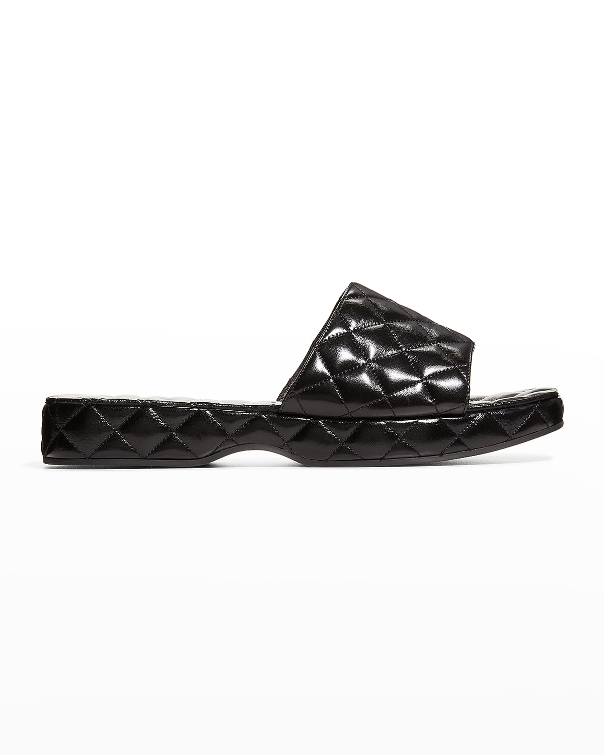 Lilo Quilted Leather Slide Sandals