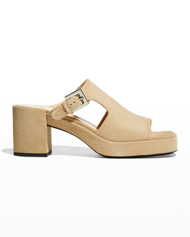 Melba Suede Slide High-Heel Sandals