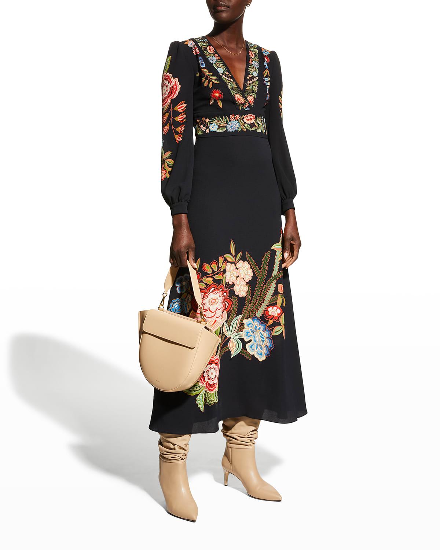 Wallpaper Floral-Print Midi Dress