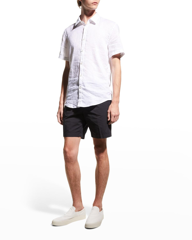 Men's Solid Cotton Sport Shirt
