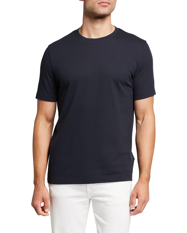 Men's Textured Solid T-Shirt