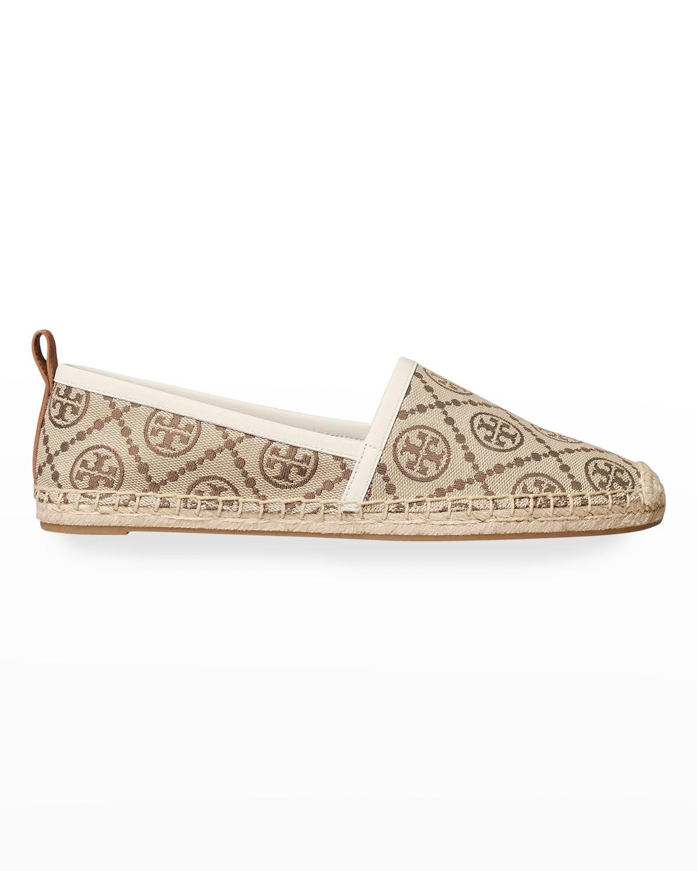 T Monogram Flat Espadrille Loafers