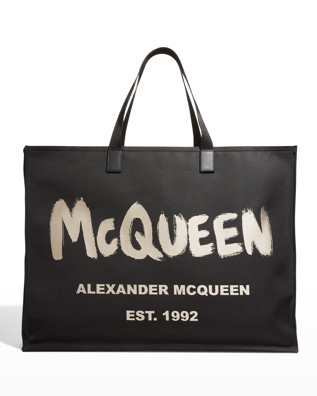 Men's City Graffiti Logo Tote Bag