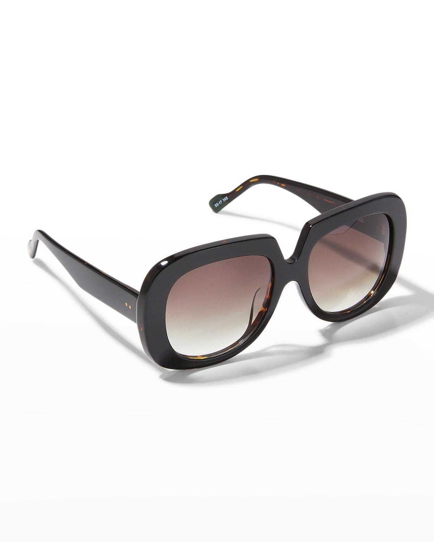 Bed of Roses Square Plastic/Metal Sunglasses