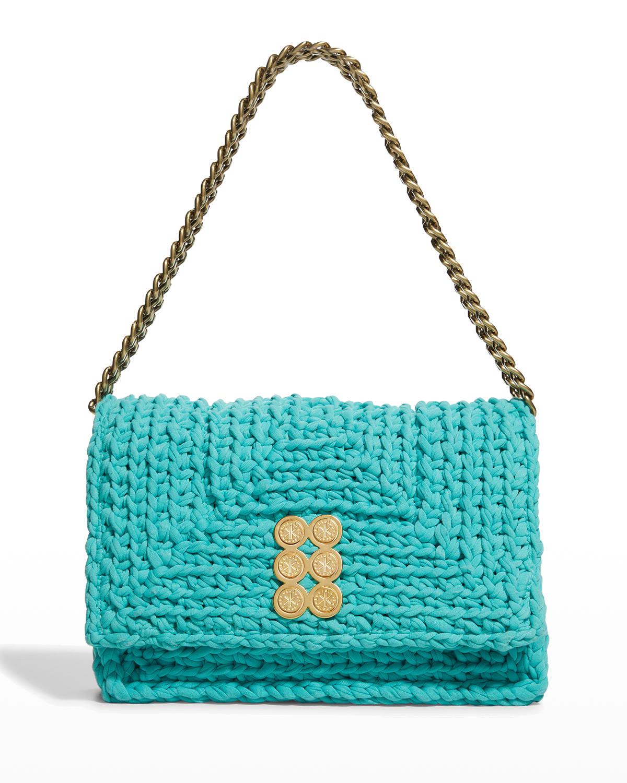 Crochet Flap Chain Shoulder Bag