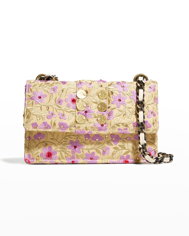Glass Bloom Woven Chain Shoulder Bag