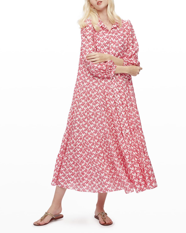 Gal Cotton-Voile Midi Dress