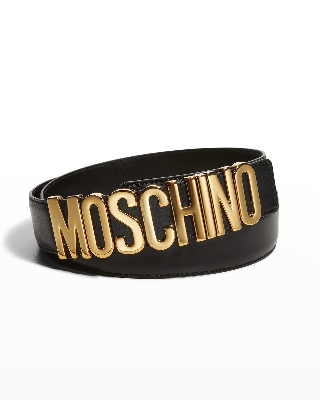 Men's Leather Logo Belt