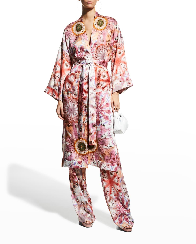 Georgiana Tie-Dye Belted Robe
