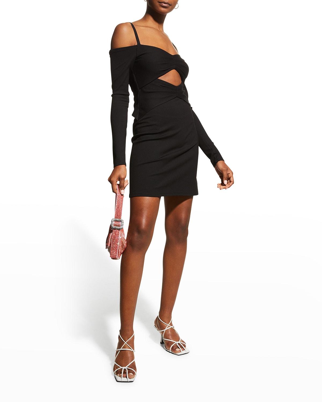 Madine Cutout Long-Sleeve Mini Dress