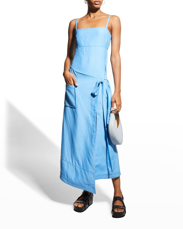 Laiza Sleeveless Wrap Dress