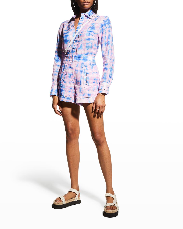 Mielle Linen Tie-Dye Shorts