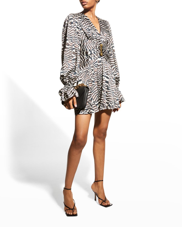 Imani Gathered-Waist Cocktail Dress