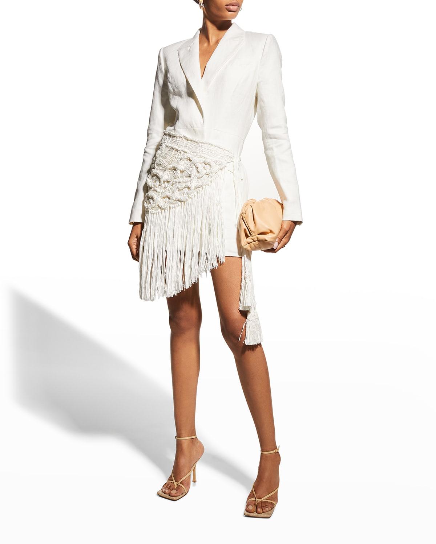 Amrit Blazer Dress with Macrame Wrap