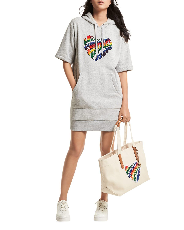 Prided Heathered Rainbow Hoodie Dress